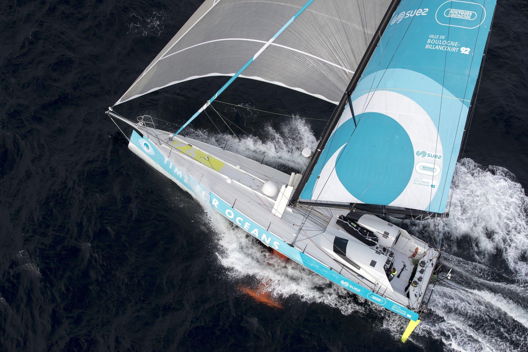 Stéphane Le Diraison paré pour cette saison à bord de son IMOCA optimisé Time For Oceans