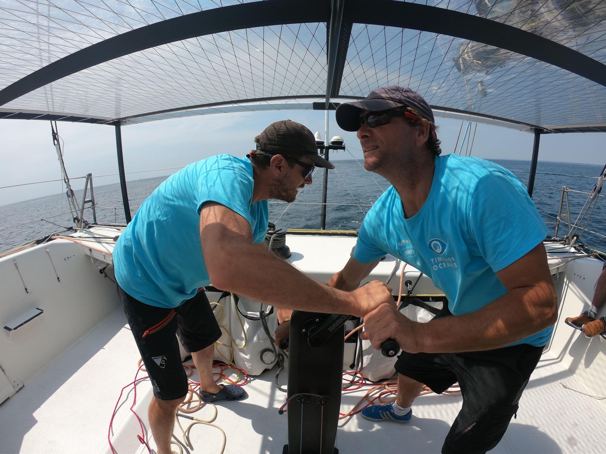 Time For Oceans, skippé par Stéphane Le Diraison et François Guiffant, termine 13e de la Rolex Fastnet Race.