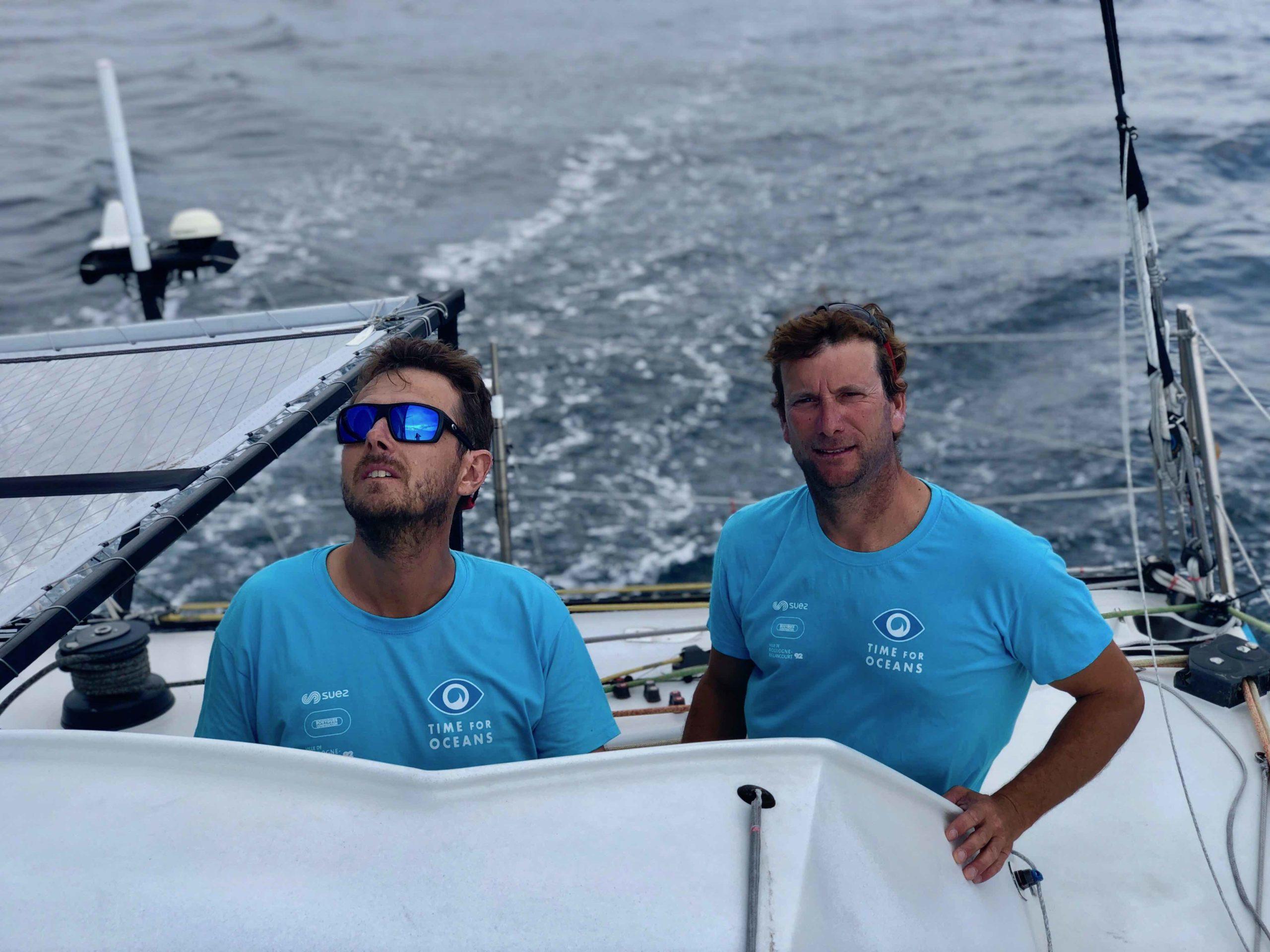 Bon départ pour Stéphane Le Diraison et François Guiffant sur la Fastnet Race à bord de Time For Oceans.
