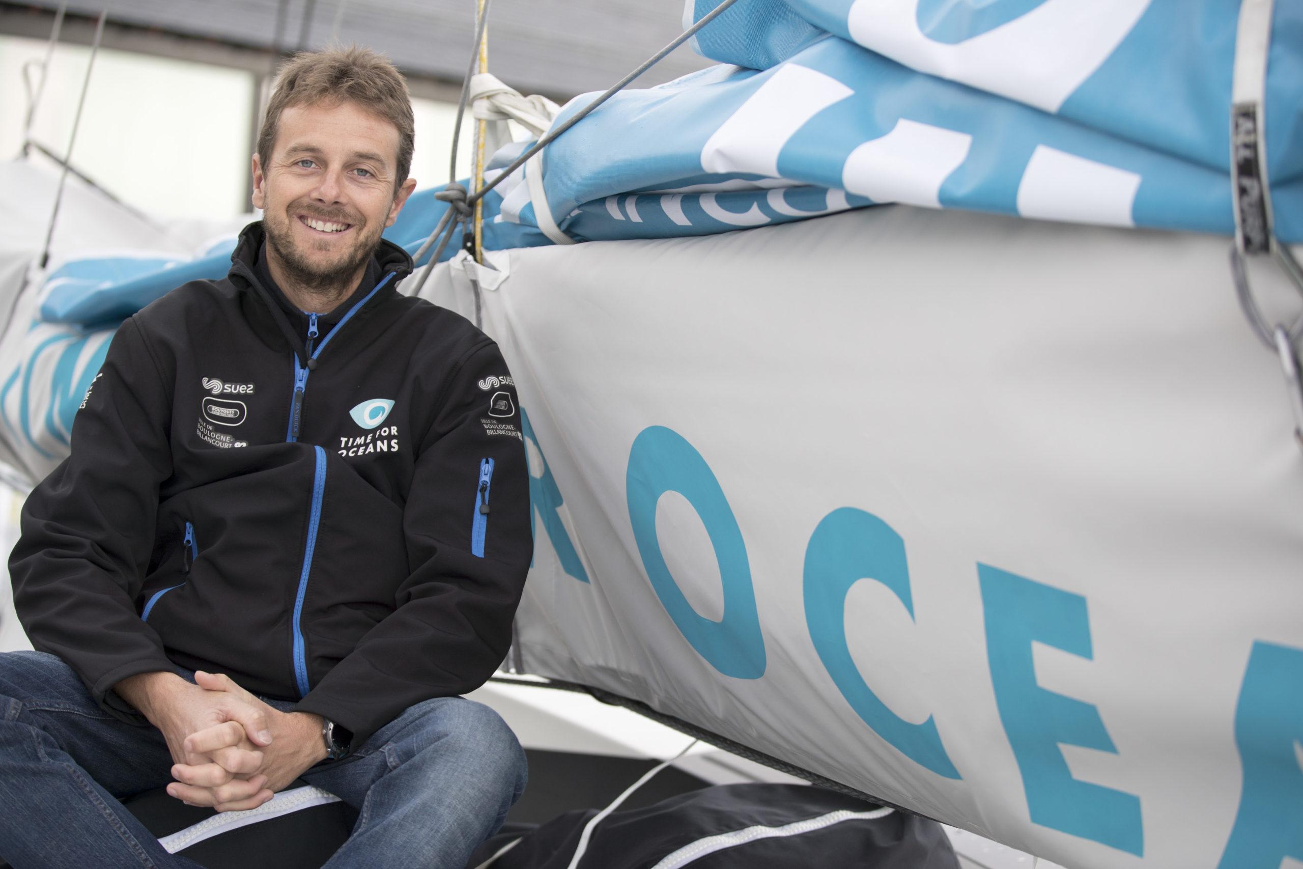 Stéphane Le Diraison, parfait outsider sur la Route du Rhum 2018 avec Time For Oceans !