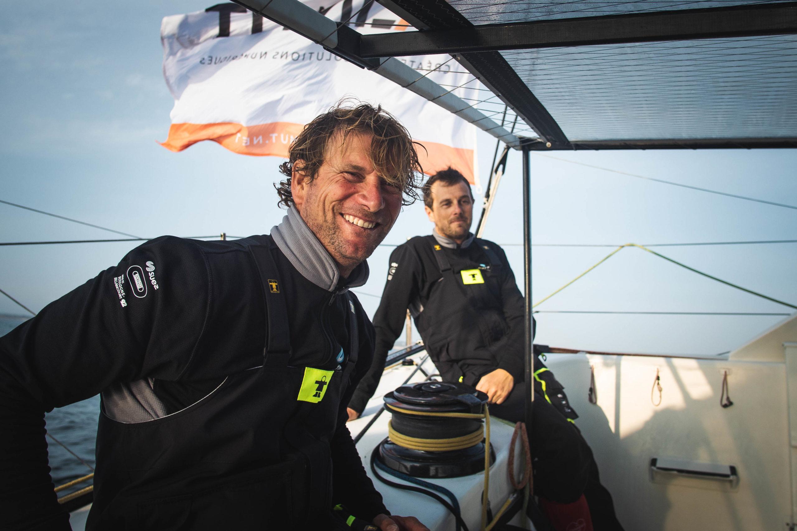 Stéphane Le Diraison et François Guiffant, nouveau duo pour la Transat Jacques Vabre avec Time For Oceans.