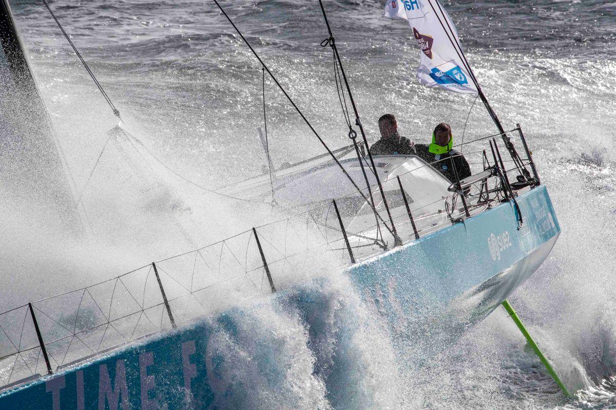 Stéphane Le Diraison et François Guiffant au top sur la Transat Jacques Vabre 2019 avec Time For Oceans.